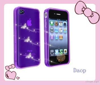 Shining Diamond Screen Sticker 1Front+1Back For  Iphone