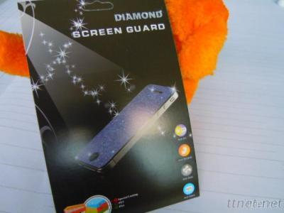Bling Colorful  Diamond Screen Protector For Iphone