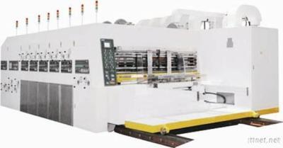 Printer Slotter With Rotary Die Cutter Stacker