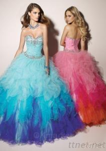 Beaded Sweetheart Tulle Ball Gown Prom Dresses