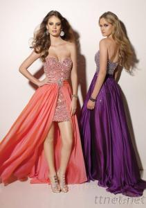 Beaded Chiffon with Removable Overskirt