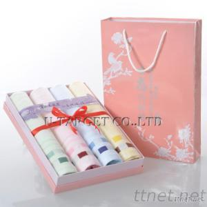 Brand New 70% Bamboo Fiber+30% Cotton 32X76Cm Solid Soft Home Towel Washcloth Gift Box