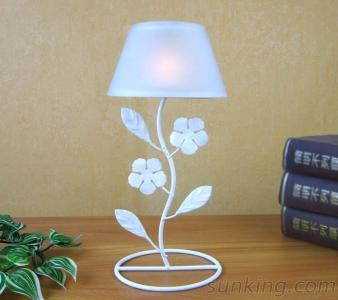 White Lamp Shape Candle Holder For Home Decoration