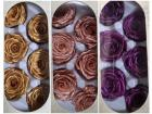 Preserved Flowers in Metallic Pink Gold Purple for Flower Gift Box