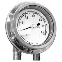All Stainless Steel Differential Pressure Gauge (Single Diaphragm, Dual Bellows Type) MDI-SDDB