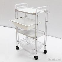 JM-2918 Beauty Salon Double Tube Instrument Trolley, Hair Salon Trolley