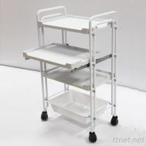 JM-2928 Beauty Salon Double Tube Instrument Trolley, Hair Salon Trolley