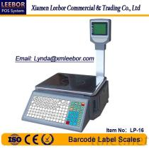 LP-16 Electronic Barcode Label Multi-Language Scale, Supermarket POS Label Printing 15/30Kg Weighing, Large LCD Scales Support Arabic/ Spanish/ Hindi