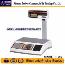 TP-30D Electronic Pricing/ Counting Scale, Supermarket Cash Register Multi-Language 15/30kg LCD Scales, POS Price Computing Receipt/ Bill Printing Weighing