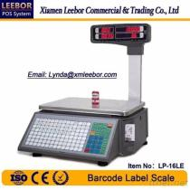 LP-16LE Electronic Barcode Label Scale, Supermarket Label Thermal Printer LED Scales, POS Multi-Language Printing Weighing