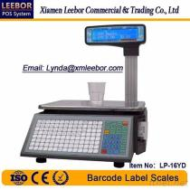 LP-16LD Barcode Label Scale, Supermarket POS Label Printing Weiging Scales Support Arabic/ Spanish/ Hindi Language, Pricing Computing LCD Scale