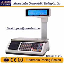 TP-31L Electronic Pricing/Counting Scale, Supermarket POS Cash Register Multi-Language Weighing, Price Computing LCD Scales