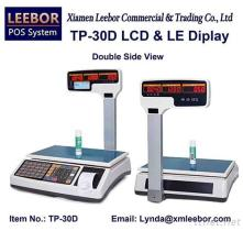 TP-30D Pricing/ Counting/ Price Computing Scale, Supermarket Receipt/ Bill Printing 15/30kg Scales, POS Thermal Printer LCD Weighing Support Arabic/ Spanish/ Hindi Local Language