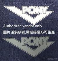 Pony Pure Color Heat Transfer Label