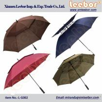 Windproof Automatic Fiberglass Double Layer/Canopy Large/Shaft Big Promotion Golf Umbrella/ L-G002, EVA Material, Kids Umbrella, Fold Umbrella, Golf Umbrella