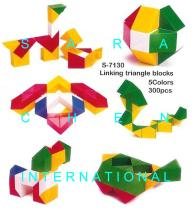 Linking Triangle Blocks (3D Puzzle)