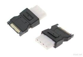 SATA 15 Pin Male Power Connecter To 4 Pin Molex Female Adapter